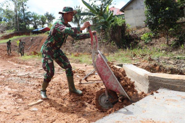 Gorong-gorong sudah dituntaskan prajurit Satgas TMMD