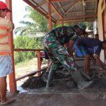 Koptu Sutikno bantu pengecoran Balai Dusun Jonti