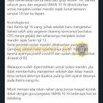 [SALAH] Petugas Kebersihan SMAN 10 Yogyakarta Positif Virus Corona – Covid19.go.id