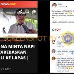 [SALAH] Hanya di Indonesia Narapidana Dibebaskan di Tengah Wabah COVID-19 – Covid19.go.id