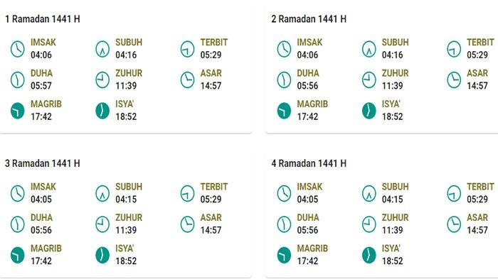 Jadwal Imsakiyah Puasa Ramadhan 2020 untuk Kabupaten Sanggau Kalbar dan Sekitarnya