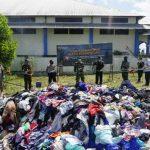 Indra Apresiasi Bea Cukai Entikong Musnahkan Barang Milik Negara Tembakau dan Pakaian Bekas