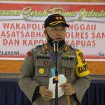 Upacara Serah Terima Jabatan di Lingkungan Polres Sanggau