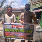 Bripka Yanmaro Himbau Warga Stop Karhutla