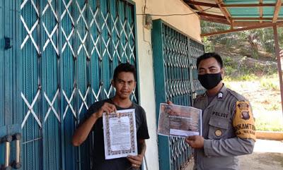 Brigpol Jodi Sebarkan Maklumat Kapolri di Desa Nekan