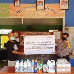 PT ANTAM Tbk-UBPB Kalbar Kembali Salurkan Bantuan Bahan Disinfektan, Suplemen dan APD untuk 8 Desa di Tayan Hilir dan Toba