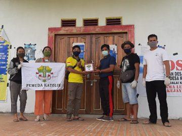 Pemuda Katolik Salurkan Bantuan Hand Soap dan Serbet Ke 12 Desa Se Kecamatan Balai