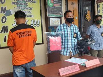 Tim Reskrim Polres Sanggau Bekuk Tersangka Curanmor di RSUD MTh Djaman Sanggau