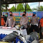 Ungkap Kasus Curanmor, Polres Sanggau Ringkus 5 Tersangka Beserta Tujuh Unit Kendaraan Barang Bukti