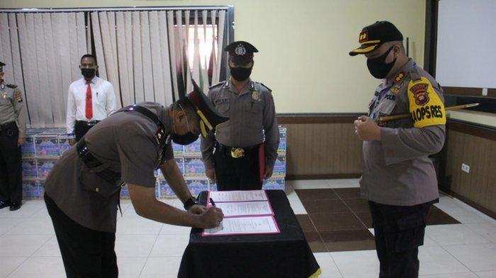 Kapolres Sanggau Pimpin Sertijab Waka Polres, Kasat dan Kapolsek