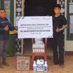 PT Antam Bantu Bahan Disinfektan, APD dan Suplemen untuk 8 Desa di Tayan Hilir dan Toba