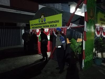 Kegiatan Ops Kotinjensi Aman Nusa II Pencegahan dan Penaggulangan COVID 19 Polsek Tayan Hulu
