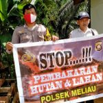 Bripka Hemy Sampaikan Himbauan dan Ajak Warga Cegah Karhutla