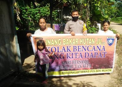 Bripka Ahmad Kardoyo Sampaikan Himbauan Cegah Karhutla