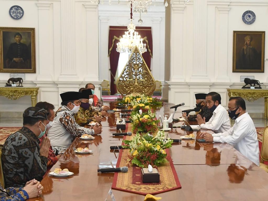 Presiden Jokowi Bahas Penanganan Covid-19 Bersama Tokoh Lintas Agama - Berita Terkini