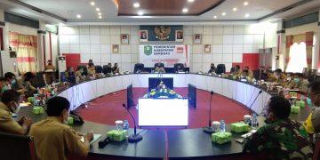 Bupati Sanggau Gelar Rapat Terkait Penerapan New Normal Yang Akan di Berlakukan
