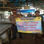 Tangkal Covid-19, Polsek Sanggau Ledo Sosialisasikan New Normal Pada Masyarakat
