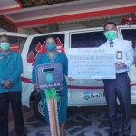 Program CSR, Bank Kalbar Cabang Sanggau Serahkan Satu Unit Mobil Ambulans untuk PMI