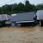 Kabar Terbaru : Banjir Bandang Landa Desa Nekan Kecamatan Entikong Kabupaten Sanggau