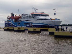 Kadishub Sanggau Beserta Rombongan Hadiri Undangan Launching Pelabuhan Penyeberangan Sintete dan Sandar Perdana KMP.Bahtera Nusantara o1 – Dinas Perhubungan