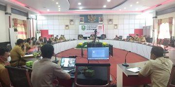 Rakor Percepatan Penyaluran BLT DD Bupati Sanggau Bersama Camat dan 163 Kepala Desa di Wilayah Kab. Sanggau