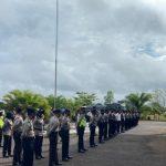 Kabagops Polres Sanggau Cek Kesiapan dan Kelengkapan Personel Kawal Penyelesaian Masalah PTPN XIII