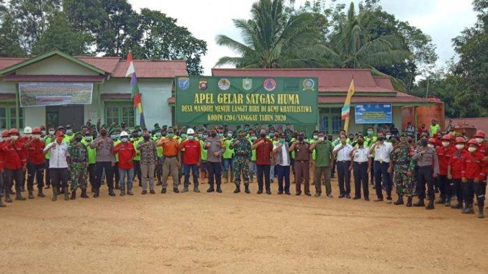 Pimpin Apel Gelar Satgas Huma Desa Mandiri, Ini Pesan Dandim Sanggau