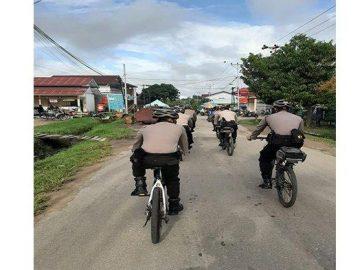 Kasat Sabhara Polres Sanggau Pantau Kamtibmas dengan Patroli Bersepeda