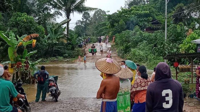 BPBD Ungkap 16 KK Terdampak Banjir di Desa Upe Kecamatan Bonti Sanggau