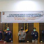 Kapolda Kalbar Kunjungi PT Antam di Tayan Hilir Sanggau