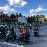 Satlantas Polres-Dishub Sanggau Buat RHK bagi Pengendara di Traffic Light Jalan Jenderal Sudirman