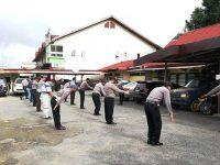 Jaga Stamina dan Kebugaran, Polsek Tayan Hulu Rutin Laksanakan Senam AWS 3
