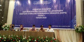 Evaluasi dan Percepatan BSPS Tahap I TA. 2020 Kabupaten Sangau Kalimantan Barat