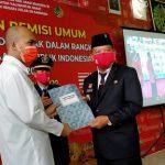 Bupati Sanggau,Hadir Dalam Pemberian Remisi Bagi Warga Binaan Rutan Kelas II B Sanggau di HUT RI Ke-75