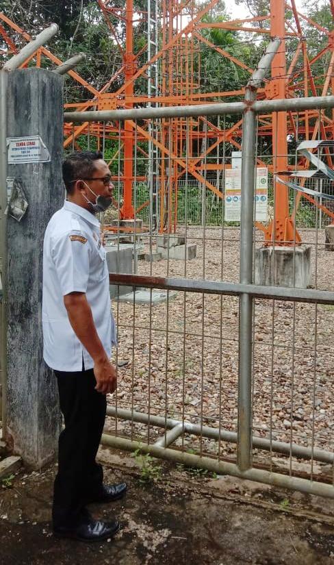 Diskominfo Sanggau Lakukan Pengawasan Menara Di Desa Malenggang