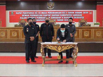 Empat Raperda Eksekutif Disetujui Fraksi-Fraksi DPRD Sanggau