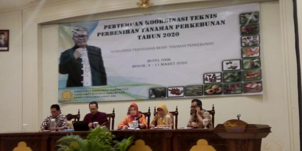 Koordinasi Teknis Perbenihan Tanaman Perkebunan Tahun 2020