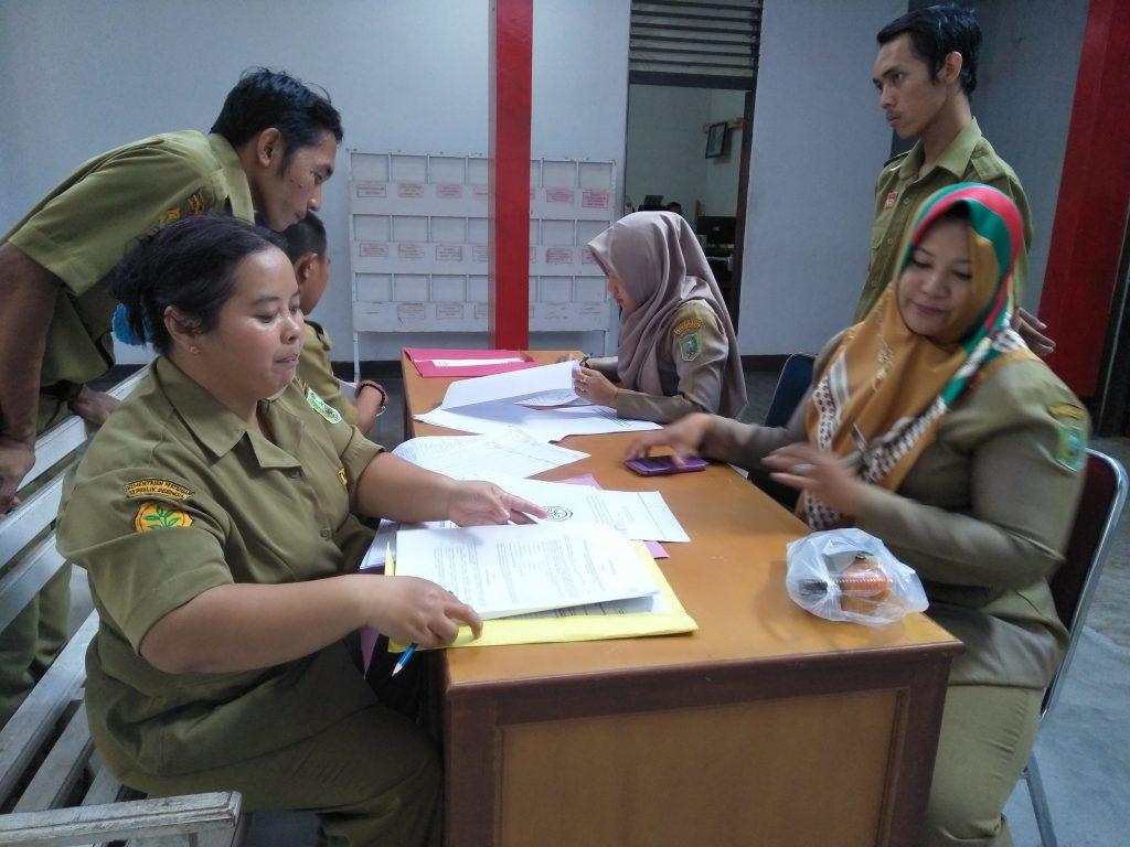 Pemberkasan THL-TB Penyuluh Pertanian di Kabupaten Sanggau -
