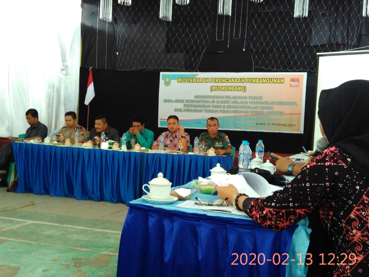 Penyampaian Program Disbunnak Tahun 2020 di Kecamatan Meliau