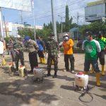 Penyemprotan Disinfektan Antisipasi Penyebaran Covid-19 di Kabupaten Sanggau