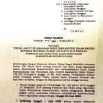 SURAT EDARAN BUPATI ATAS TINDAKLANJUT PERMENDAGRI NOMOR 109 TAHUN 2019 TENTANG DOKUMEN ADMINDUK