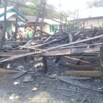 Tiga Rumah Di Beduai Hangus Terbakar