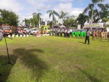Apel Kesiap-siagaan Penanganan Karhutla dan Bencana Alam Lainnya Wilayah Kecamatan Kembayan Sanggau
