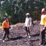 Kapolsek Batang Tarang Polres Sanggau Pimpin Pengecekan Titik Hotspot