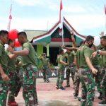 Satgas Pamtas di Entikong Sanggau Meriahkan HUT Ke-75 RI dengan Ragam Perlombaan