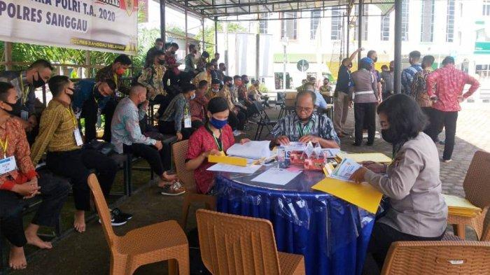 188 Calon Bintara PTU Polri TA 2020 Ikuti Pemeriksaan Admistrasi di Mapolres Sanggau