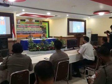 Gelar Rakor Kesiapan Perusahaan Menanggulangi Karhutla, Ini Pesan Kapolres Sanggau