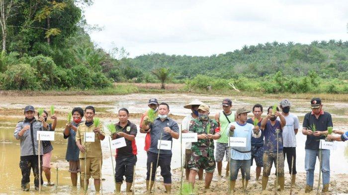 Hadiri Tanam Perdana di Desa Sosok, Ini Pesan Anggota DPRD Sanggau Krismono