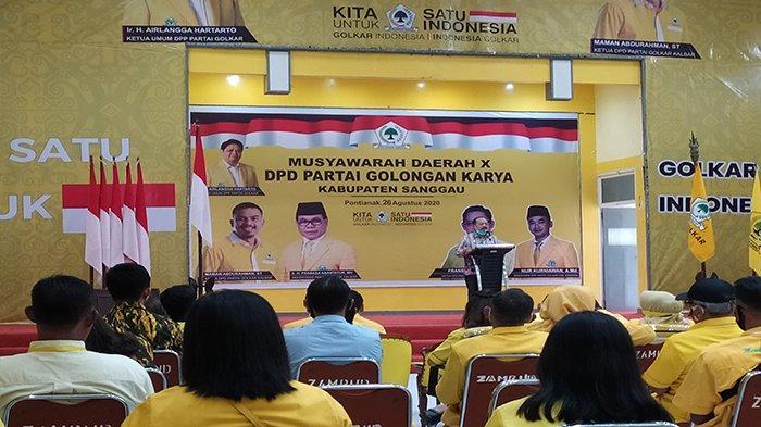 Hadiri Musda Golkar Sanggau, Wabup Yohanes Ontot Harap Jalinan Kemitraan Terus Berlanjut