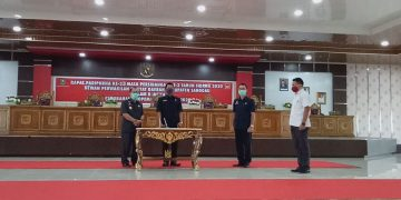 Wabup Sanggau Hadiri Rapat Paripurna DPRD Sanggau Dalam Rangka Perubahan Propemperda Tahun 2020